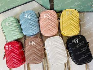 598G597 La più bella catena di borsa bronzo lusso classico 17CM una spalla Mini sacchetto del telefono mobile ladies fashion