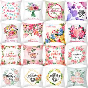 Muttertag Kissenbezug Happy Muttertag Floral Gedruckt 18x18 Zoll Pfirsich Haut Sofa Dekokissen Fall Home Decor