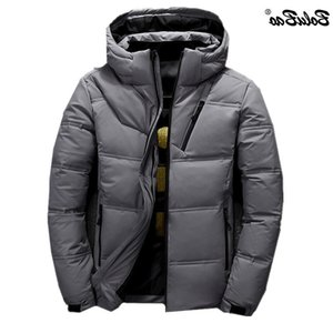 BOLUBAO Winter New Men Men's Brand Hooded Solid Color Wild Coats Casual Warm White Duck Down Jacket Male