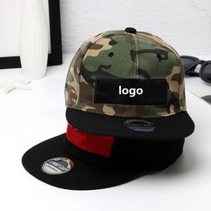 Four colors Fashion Designer sport cap Letter embroidery camouflage street dance hip hop hat men and women outdoor flat-edge baseball cap