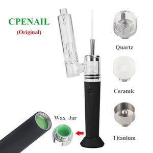 100% Authentic CPENAIL wax vape pen starter kit with glass pipe 1500mAh battery protable DAB ring concentrate vaporizer