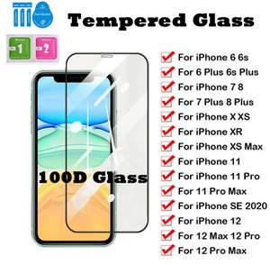 100D Full Curved Protective Glass Tempered Glass Film for iPhone 12 11 6 7 8 XR 11 Pro Galaxy M10 M20 Screen Protector in good quality