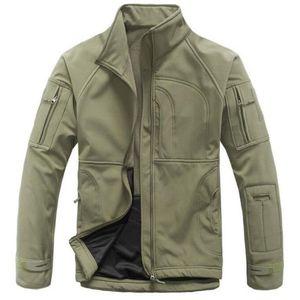Softshell Waterproof Tactical Jacket Outdoor Hiking Climbing Sports Clothes Fleece Warm Windproof Men Windbreaker Coats