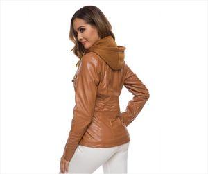 Faux leather women jackets, women motorcycle zipper coats, autumn winter warm outerwear, zippers, coats
