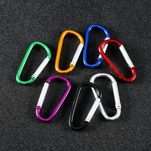 In Stock! Aluminum Alloy Carabiner Type D Outdoor Climbing Safety Insurance Buckle Spring Luggage Backpack Hook Free Shipping