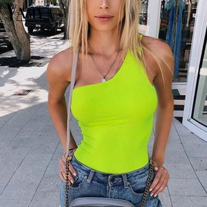 One Body Body Sexy BodyCon One Body Body per le donne Basic Autunno Summer Summer Bodysuits Tute Neon Verde