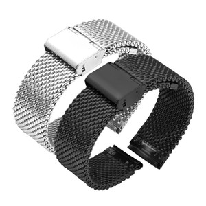 16mm 18mm 20mm 22mm 24mm 26mm Stainless Steel Milan Mesh Watch Strap Bracelets Watch Band Black Silver Gold Rose Gold