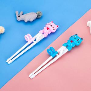 Çocuk Eğitimi Antiskid Chopsticks Taşınabilir Öğrenme Bebek Gıda Takviyesi Yemek bulaşığı Karikatür Uygulaması Chopsticks DWD2920 Besleme