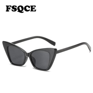 Fsqce gato ojo gafas de sol mujeres diseñador moda damas retro hembra sol gafas UV400