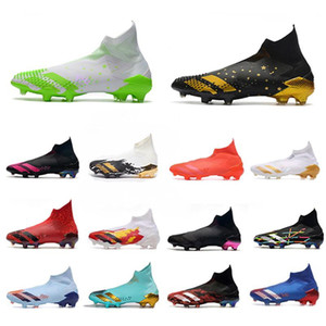 Новый Predator Mutator 20+ FG Inflight Dark Motion Signal Green Gold Metallic Местность Boots Футбол Бутсы Tormentor Laceless футбол обувь