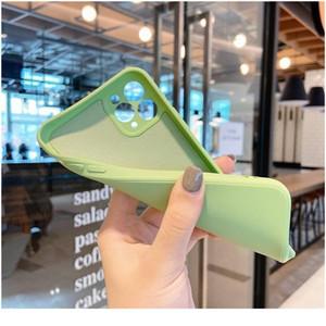 Phone Case For Iphone 11 Pro Max Xr Xs X Xs Max 7 8 Plus Luxury Original Liquid Sile Soft Shockpr wmtWKT