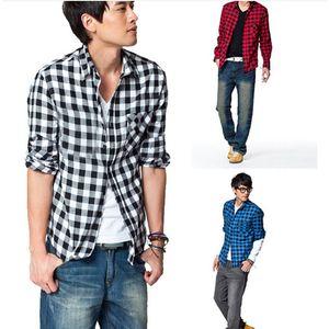 new fashion men shirts plaid causal shirt long sleeve flannel high quality male clothes camisas fz0892