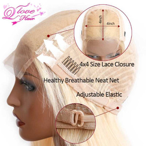 613 Lace Wig Remy Brazilian Hair Wigs Blonde Lace wig Human Hair Wigs For Black Women 4X4 150% Density FOR BEAUTY U