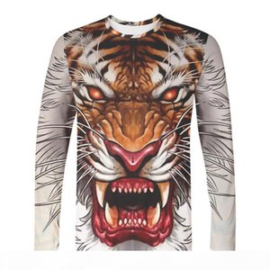 WAMNI 3D Long Sleeve T-Shirt Animal Picture Lion And Tiger Hip Hop Harajuku Novelty Street Clothing Fashion Casual Wild Top