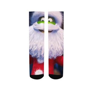 Crew-Socken Herren-Mode-Weihnachtsgeschenk Der Grinch Printed One Size Socken Elastische Verschleißfeste Deodorant Absorbent Sweat Socken