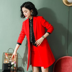 Autumn and winter long sleeve style formal business skirt and jacket jacket women's professional large size suit suit women's