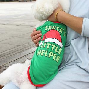 New Marry Christmas cute pet dog clothes cat T-shirt vest puppy soft coat jacket summer clothing apparel pet supplies