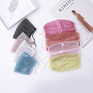 Wiederverwendbare Breath Dekoration Bling Designer Diamant-Gesicht für Partei-Sommer-Sonnenschutz Schutz Thin Section Maske Dhb855