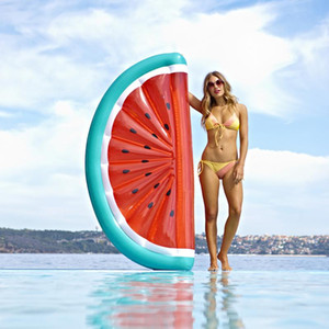 Swimming Ring Inflatable Mattress Giant Fruit Floating Bed Raft Water Pool Float Watermelon Slice Summer Party New Swimming Ring