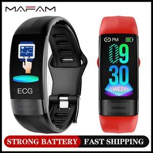 MAFAM P11 ECG Smart Band Watch Monitor de ritmo cardíaco PPG Pulsera inteligente Reloj de presión arterial 2020 Montres Intelligentes pulsera LJ201205