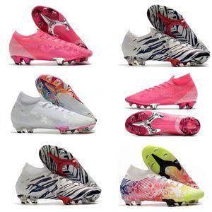Kız çocuk Mercurial Elite 13 FG Neymar Ronaldo Rahat Erkek FG Futbol Profilli En ucuz Futbol Ayakkabı Erkek Futbol Boots size35-45
