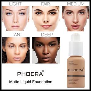 PHOERA New 30ml Matte Oil Control Concealer Liquid Foundation Pallet Shadows Makeup Pallete Far Paleti Novo Sombras Skin Care