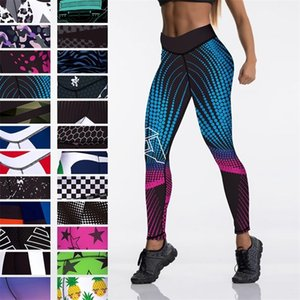 Qickitout 12%spandex Sexy High Waist Elasticity Women Digital Printed Leggings Push Up Strength Pants 201203