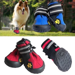 Sport Dog Shoes For Large Dogs Pet Outdoor Rain Boots Non Slip Puppy Running Sneakers Waterpoof Boots Pet Accessories 236335 201023