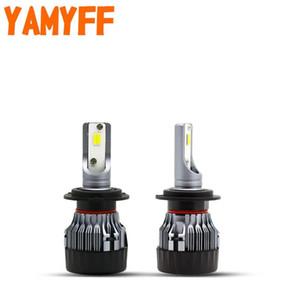 YAMYFF Car Headlight H7 LED Bulb H11 H8 H9 Lamp for projector lens Sharp Cut Line 55W 10000LM 6000K 12V Auto Bulb Car Fog Light