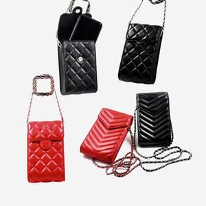 Moda Bolsas del teléfono para Iphone 12 Pro Max alta calidad Casos del cuero del teléfono del bolso del caso Pequeña carpeta de la tarjeta de bolsillo adecuados para la mayoría de los teléfonos