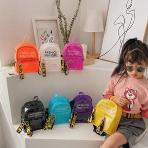 Novos Crianças Mochila Transparente Crianças Carta Impresso Estudantes Nos Ombros Sacos Beach Bag Meninas Meninas Meninas Pequenas Saco Saco C6693