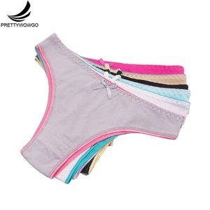 Prettywowgo 6 pcs / lote nova chegada 2020 mulheres calcinha sexy mulheres algodão bikini cueca 9291 y200425