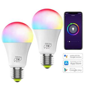 스마트 와이파이 전구 알렉사 Google 홈과 시리와 라이트 E27 7W RGBCW 매직 홈 스마트 LED 조명 없음 허브 필수 작품