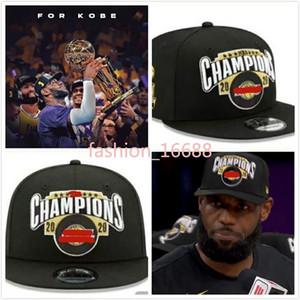 2020 Los Angeles şapkalar 23 JAMES LAL Finalleri Şampiyonlar Snapback Şapka Cap Ayarlanabilir şapka siyah kap Şampiyonu şapka Laker