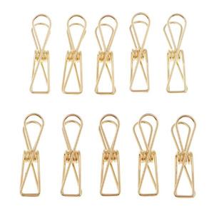 금속 긴 꼬리 클립 사무실 문구는 중공 와이어 바인더 클립 공급 용지 클램프 (소, 골드)