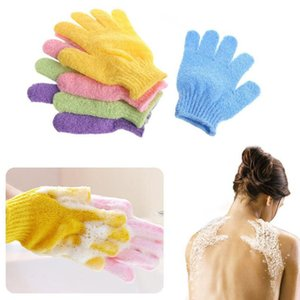 Double Side Bathing Gloves Exfoliating Wash Skin Spa Body Scrubber Glove Spa Massage Five Fingers