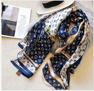 Top designer silk scarf brand scarf ladies soft super long luxury #38 scarf shawl spring fashion printed scarves a0320