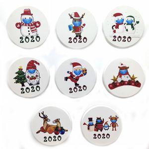 DHL della nave 100pcs del frigorifero Magneti Ceramica 2020 Snonman Babbo Natale cervi Celebrity Party Favors per la decorazione domestica FY4312
