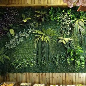 Зеленое искусственное растение настенные панели DIY газон свадьба дома декор гостиничный магазин фон поддельных растений Открытый интерьер украшения