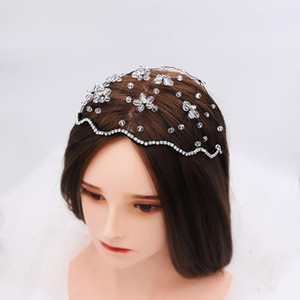 Princess Headband for Bridal Heavy Hand-Woven Crystal Branch Hair Band Women Evening Hair Jewelry tiaras de cabelo H449