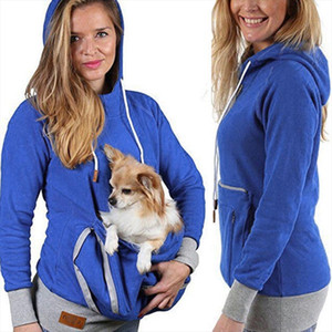 Unisex Kangaroo Pet Dog Cat Holder Pouch Pocket Cotton Blouse Hoodies Top Cotton Winter Cool Autumn Spring hoodie with cat pouch