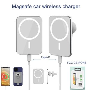 Magnetic Wireless Charger Mount Magsafe 15W Car Phone Holder For iPhone 12 Mini 11 Pro Max
