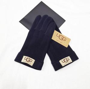 Herren-Lammfell-Handschuhe Mode männlich Five Finger Handschuhe Echtes Leder