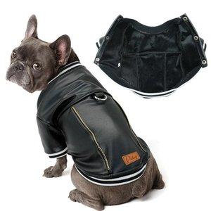 Fransız Bulldog Köpek Giysileri Pug Pet Giysileri Kış Deri Köpek Ceket Ceket Orta Büyük Köpekler Için Bulldog Giyim Ropa Jllus