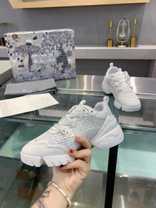 2020 women's casual sneakers fall winter white khaki latest film mesh old shoes lace-up mesh upper size 34-41