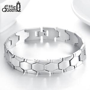 Effie Queen Brand Brandband Design Braccialetti in acciaio inox per uomo maschio moda regalo gioielli FB77