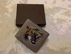 inluxe High quality men animal Short Wallet Leather black snake Tiger bee Wallets Women Long Style Purse Wallet card Holders