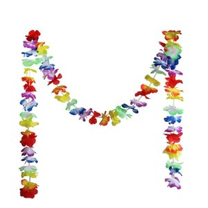 1шт Гавайский цветок Гирлянда Lei ожерелье Aloha Hula Hawaii Summer Beach Dress