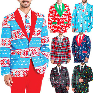 Chirstmas Suit Jacket Adult Jacket Coat Christmas Costumes Funny pattern printed party cloth Xmas Size M-XXL