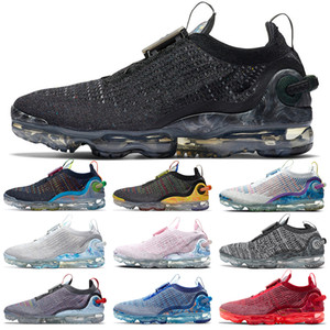 2020 Maglierie pattini correnti degli uomini delle donne grigio scuro profondo dell'azzurro reale Mutil delle donne degli uomini allenatori sportivi Sneakers